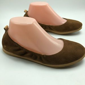 Toms Olivia Ballet Flats Round Toe Slip-on Suede